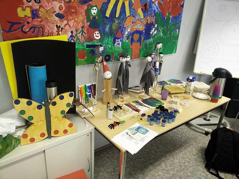 Kreatives Arbeiten mit verschiedenen Materialien alte Werkstatt-2