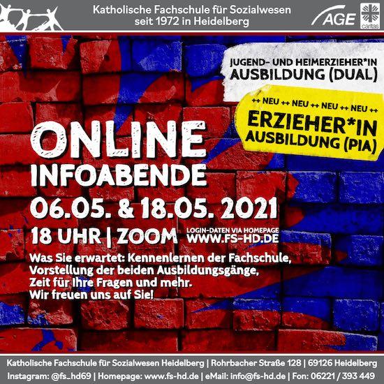 Online-Info-Abend zu unseren Ausbildungen